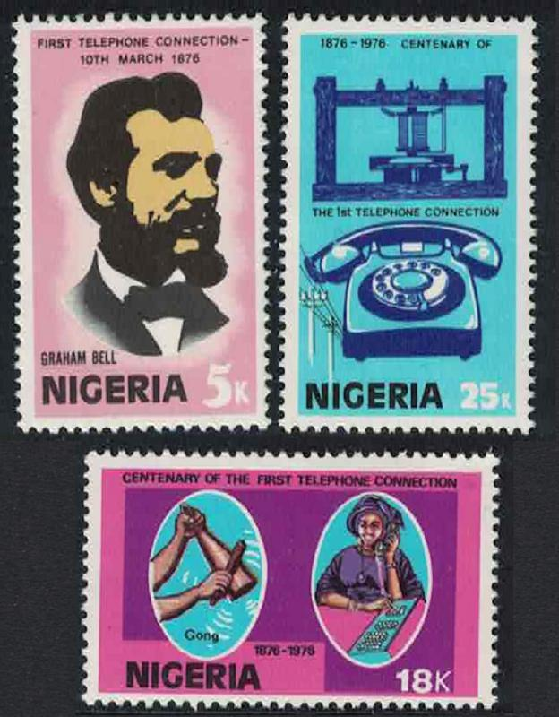 Nigeria Centenary of Telephone 3v SG#355-357