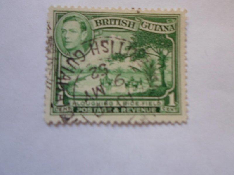 british guiana stamP USED NO HINGE # 4
