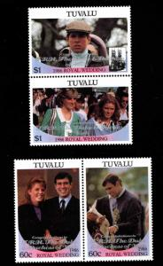 TUVALU Scott 389-390 MNH** overprint set