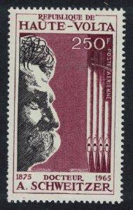 Upper Volta Dr Albert Schweitzer 1v 1967 MNH SG#215 CV£5.50