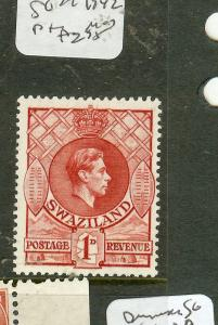 SWAZILAND  (P0508B) KGVI  1D 1942  PTG  MOG