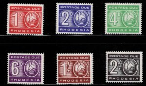 Rhodesia Scott J9-J14 MH* Postage due set