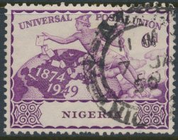 Nigeria  SG 66 SC# 77  Used UPU 1949 please see scan