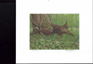 MISSISSIPPI STATE TURKEY STAMP PRINT WILDLIFE FEDERATION by Bob Thompkins