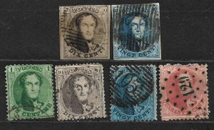 COLLECTION LOT OF 6 BELGIUM STAMPS 1851 + CV + $74