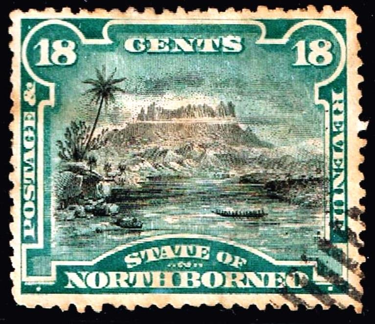 NORTH BORNEO Stamp 1894 Local Motifs  18C USED STAMP $85