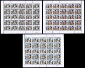 New Caledonia Olympic Games Athens 3 sheetlets of 25v each SG#1332-1334