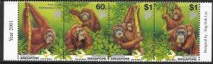 SINGAPORE SG1116a 2001 ORANGURAN CONSERVATION MNH