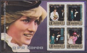 1982 North Korea 2283-86/B128 Prince William and Diana 20,00 €