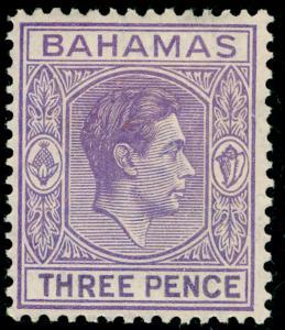 BAHAMAS SG154, 3d violet, LH MINT. Cat £16.