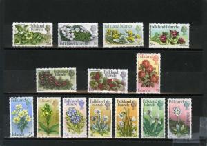 FALKLAND ISLANDS 1968 Sc#166-179 FLOWERS & PLANTS SET OF 14 STAMPS MNH