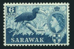 Sarawak 217 Wmk 314,MNH.Michel 206. Hornbill.