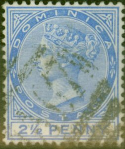 Dominica 1888 2 1/2d Ultramarine SG23 Fine Used