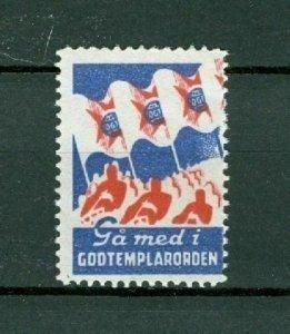 Sweden Poster Stamp Mnh  IOGT 1943. Godtemplar Order.