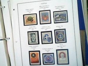 Austria 1983  full page auction  MNH
