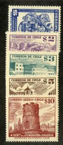 CHILE 269-272, C167 MH SCV $4.05 BIN $1.75 MILITARY