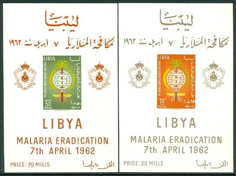 EDW1949SELL : LIBYA 1962 Scott #218-19. 2 Imperforated S/S. VF, Mint NH. Cat $34