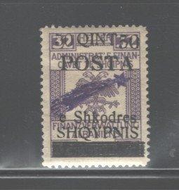 ALBANIA 1919  #103, OVERPRINT,  MH