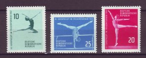 J24855 JLstamps 1961 germany DDR set mnh #555-7 sports