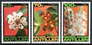 Netherlands Antilles 469-471, MNH. Flowers. Oregano blossom,Flaira,Welisali,1981