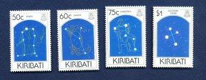 KIRIBATI - Scott 656-659 - FVF MNH - Constellations, Space - 1995