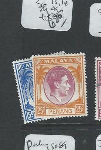 MALAYA PENANG (P1208B) KGVI SG 13, 16  MOG