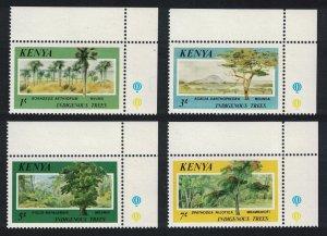 Kenya Indigenous Trees 4v Corners 1986 MNH SG#370-373