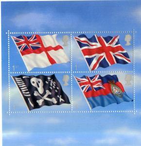 GREAT BRITAIN 1999 MNH S/S SCV $10.00 BIN $6.00 FLAGS