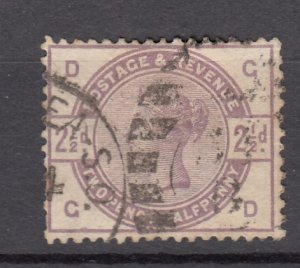 J27512 1883-4 great britain used #101 queen