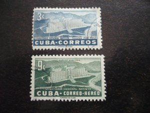 Stamps - Cuba - Scott# 531,C107 - Used Set of 2 Stamps