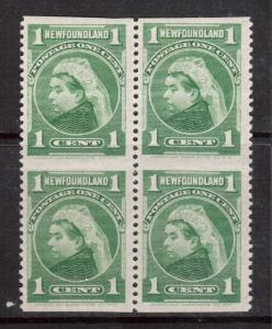 Newfoundland #80b XF Mint Block **With Certificate**