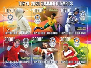 Stamps.Olympic Games in Tokyo 2020 Set 2 sheet perforated