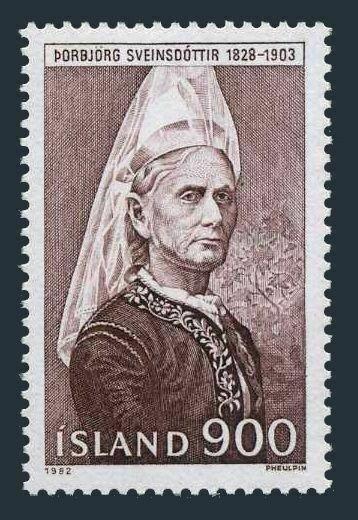Iceland 563 two stamps, MNH. Mi 587. Borbjorg Sveinsdottir, University founder.