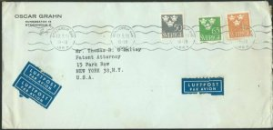 SWEDEN 1953 commercial airmail cover to USA................................60676