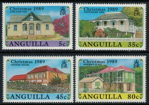 Anguilla #787-91* NH  CV $8.95  Christmas 1989 set & souvenir sheet