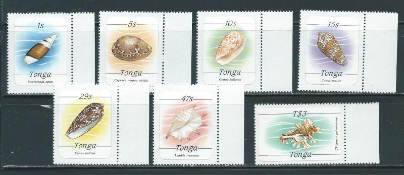 Tonga 563 66 69 71 73 75 78 Shells and Fish part set MNH
