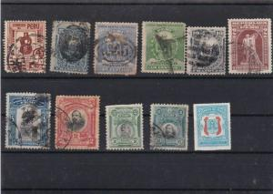 PERU STAMPS ON STOCK CARD  MOUNTED MINT USED  REF R776