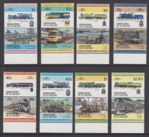 St. Vincent Grenadines SWc 297//342 MNH. 1984 Locomotives, se-tenant pairs cplt