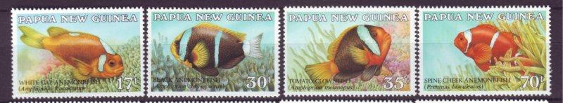 J21861 Jlstamp 1987 png set mnh #659-62 fish
