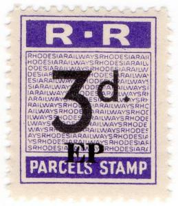 (I.B) Rhodesia Railways : Parcels Stamp 3d