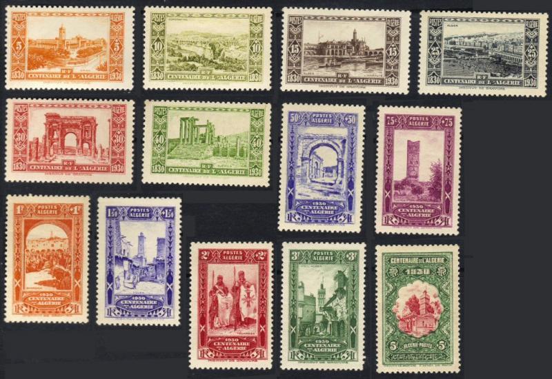Algeria #B14-26 MH cpl semipostals CV$135