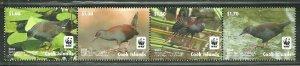 Cook Islands MNH Strip 1524a-d Spotless Crake Bird 2014 SCV 8.75