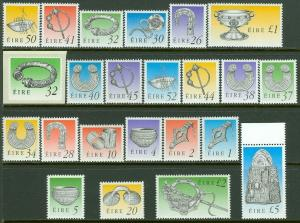 EDW1949SELL : IRELAND 1990-95 Scott #767-794 Complete set. VF, Mint NH. Cat $85.
