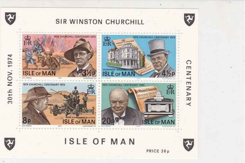 Isle of Man 1974 Sir Winston Churchill MNH Mini Stamps Sheet Ref 27099