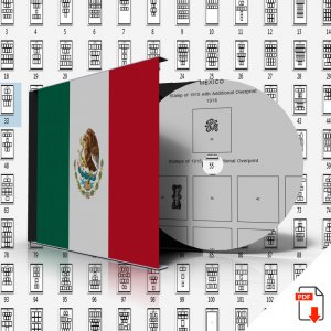 MEXICO STAMP ALBUM PAGES 1856-2011 (432 PDF digital pages)