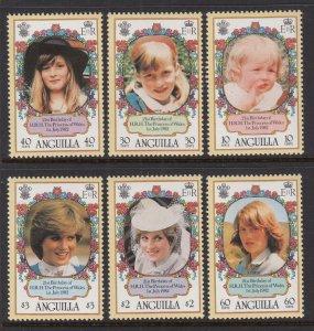 Anguilla 485-490 Princess Diana MNH VF