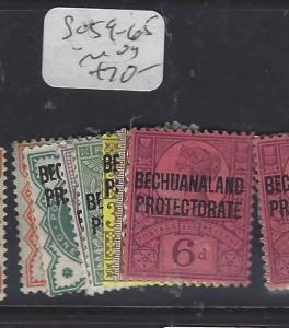 BECHUANALAND (P1910B)  QV  ON GB  SET  SG 59-65    MOG