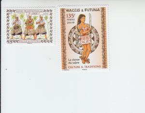 2016 Wallis & Futuna Traditional Dance (2) (Scott 772,774) MNH