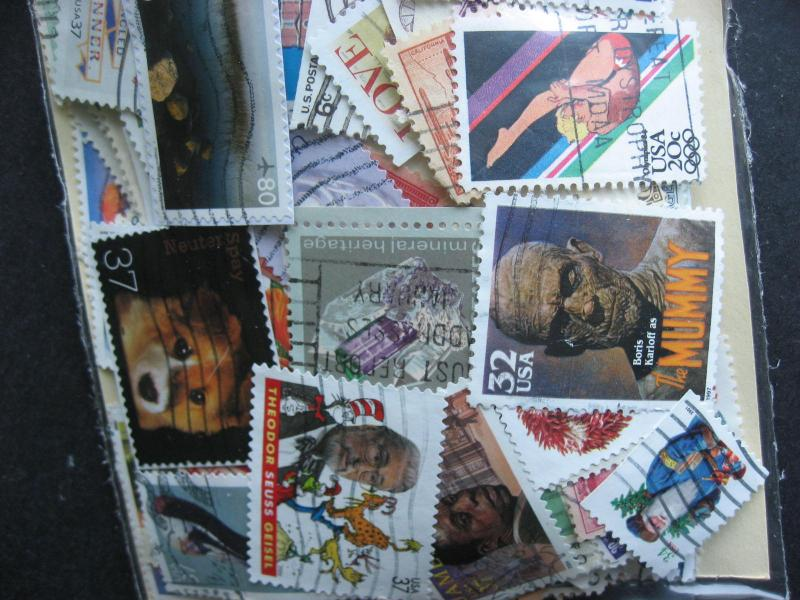 USA mixture (duplicates,mixed condition) 2000 old,modern, 51% commems,49% defins