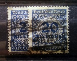 Germany DT Inflation Mi 319 W Shades used